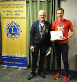 Young Lions in Service Award Benedict Pearce